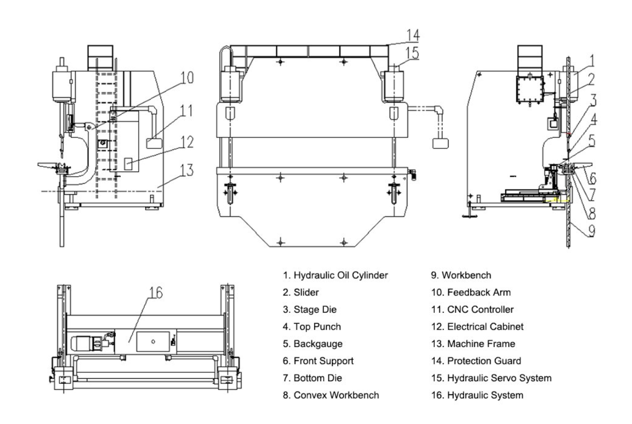 press brake drawings