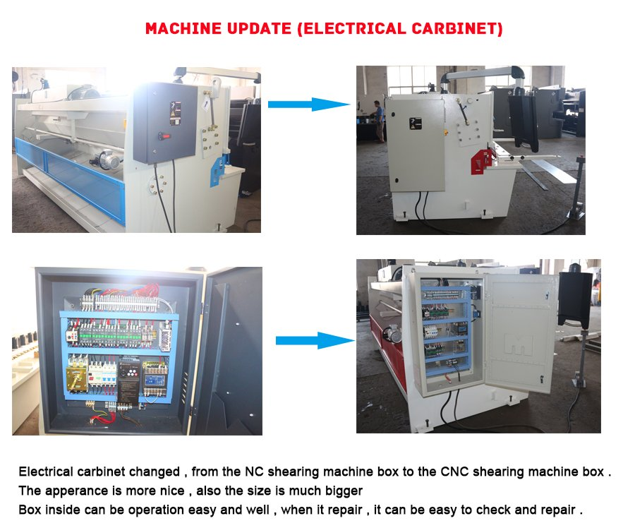 Electrical box changed in order to easy repair for shearing machine and press brake