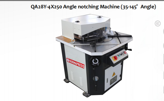 Code for safe operation of QA28Y-4*250 Angle notching machine