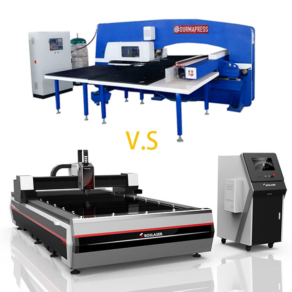 The Difference Between Fiber Laser Cutting Machine and CNC Servo Turret Punch Press
